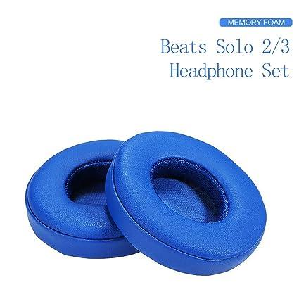 Cojines Beats Solo 2.0/3.0 Almohadillas de Repuesto para Auriculares de Espuma con Efecto Memoria