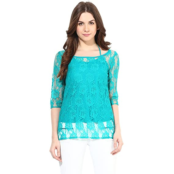 Abiti Bella Women'S Sea Green Tops Women's Tops at amazon