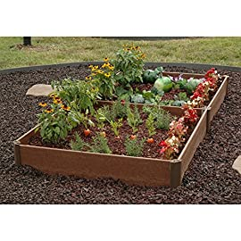 "Greenland Gardener Raised Bed Garden Kit - 42"" x 84"" x 8"" 7 Raised garden bed kit Makes garening easy Made from recycled materials"