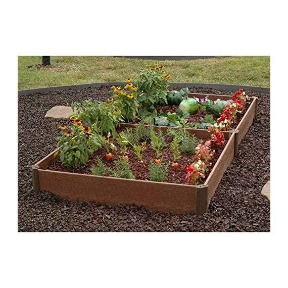 "Greenland Gardener Raised Bed Garden Kit - 42"" x 84"" x 8"" 1 Raised garden bed kit Makes garening easy Made from recycled materials"