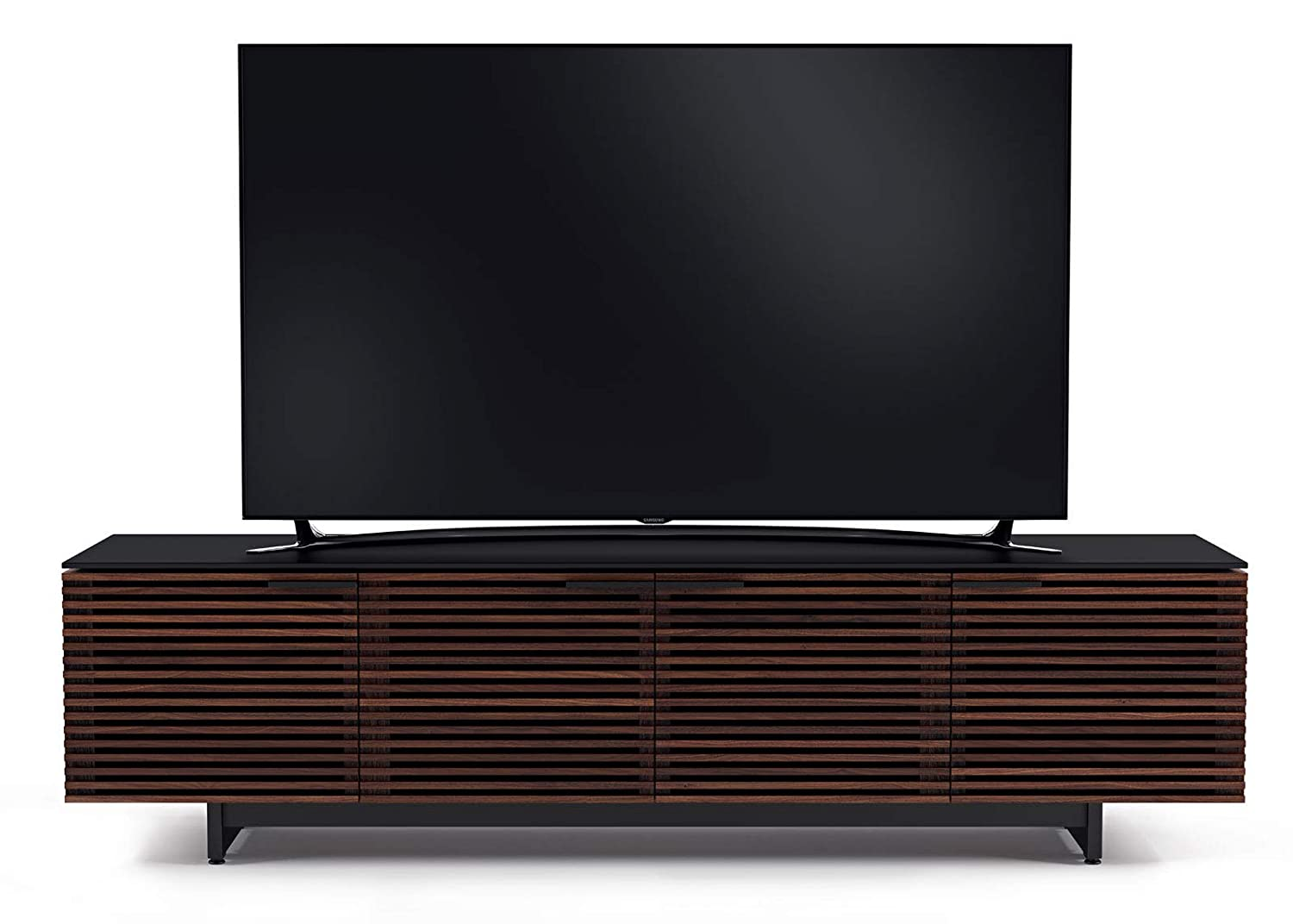 BDI Corridor Low TV Stand Media Cabinet, Chocolate Stained Walnut