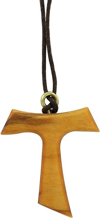 croce di San Francesco d/'Assisi Tau in legno di olivo  100 pezzi