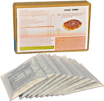 CALYFORM Hamburguesa Proteica para dieta saciante   Pack de sobres proteína en polvo para preparar hamburguesas de pollo   Preparados Proteína de ...