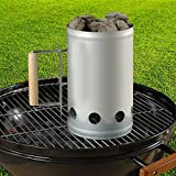 Charcoal Companion Chimney Starter For BBQ Grilling 6LB Capacity Wood Handle