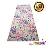 Luxury Quality Non Slip Printed Design Durable 6MM Thick Yoga Mat with Carry Bag by Kids Mandi