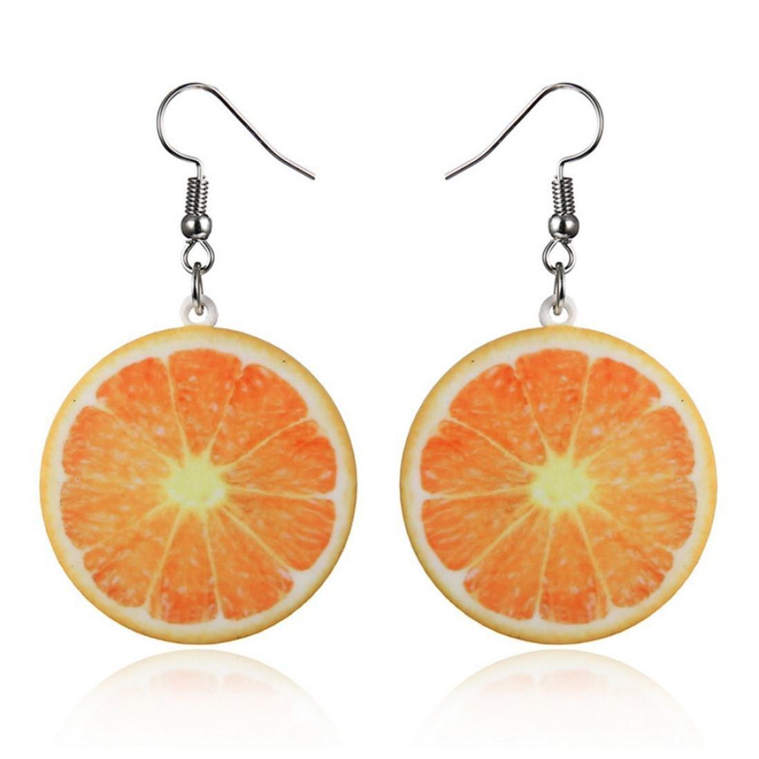 Trendy Statement Creative Funny Lifelike Fruits Acrylic Earrings for Women/Girl's (F)