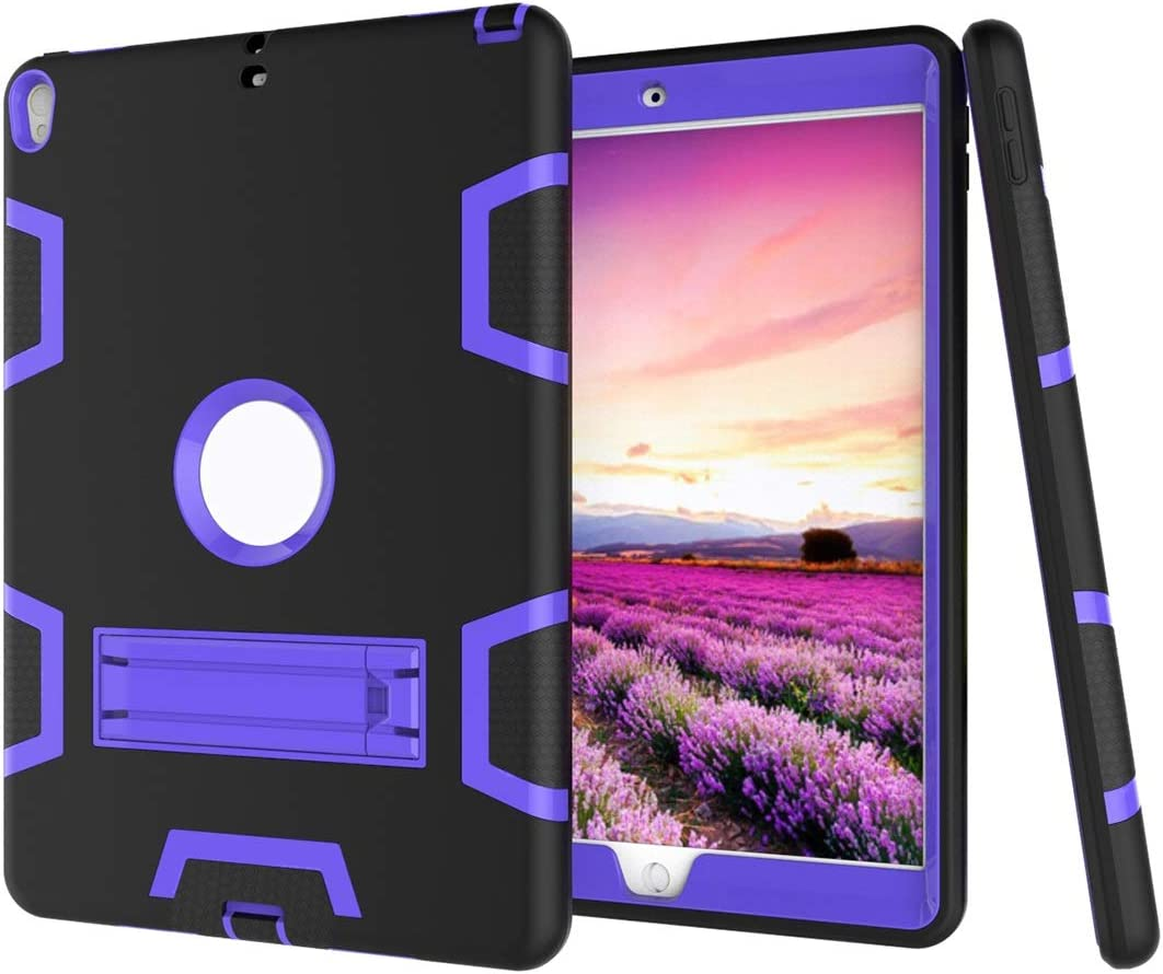 Tablet PC Case Shockproof Heavy-Duty Rubber High-Strength Sturdy and Durable Hybrid Three-Layer Full Body Protective Case for New iPad Pro 10.5 Built-in Shockproof Support Smart Cover