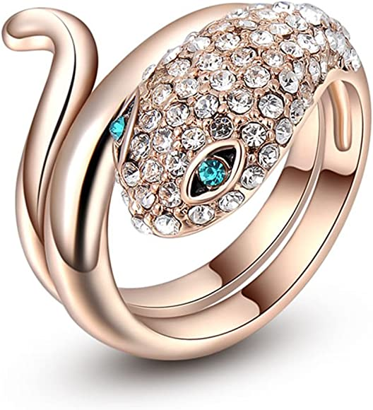 Jewelry & Watches Austria Crystal Costume Rings Lovers For Sale