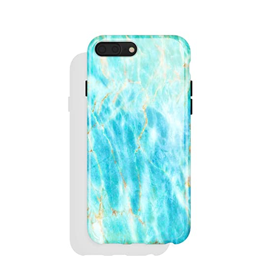 premium selection de29c e9cff iPhone 8 Plus / 7 Plus case for Girls, Akna Get-It-Now Collection Flexible  Silicon Case for Both iPhone 8 Plus & 7 Plus [Ocean Blue Marble](509-US)