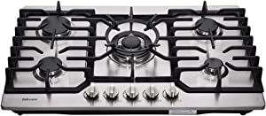 "Deli-mate 30"" Gas Cooktop Dual Fuel 5 Sealed Burners Stainless Steel Gas Hob Drop-In Gas Cooktop DM527-SA05 Gas Cooker"