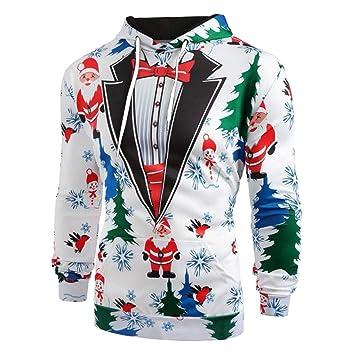 Amazoncom Kfso Men Women Funny Ugly Christmas Sweater Long Sleeve