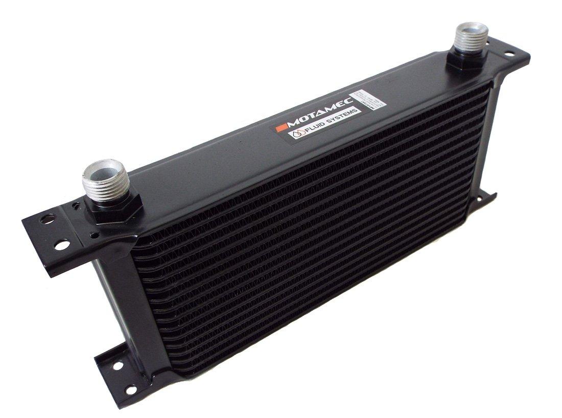 Motamec Oil Cooler 13 Row - 235mm Matrix - 1/2 BSP - Black Alloy