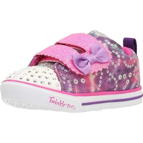 Zapatillas para niña, Color Rosa, Marca SKECHERS, Modelo Zapatillas para Niña SKECHERS Sparkle Lite-Rainbow Cuties Rosa: Amazon.es: Zapatos y complementos