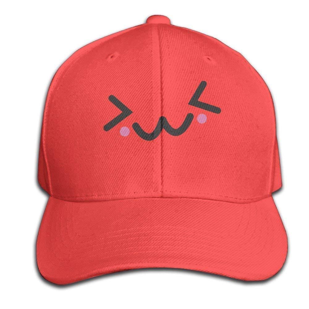 c558802f5669e Kawaii Face Smile Sweet Cute Baseball Cap Unisex Fishing Caps Peaked Hats  Ash yishanyishan