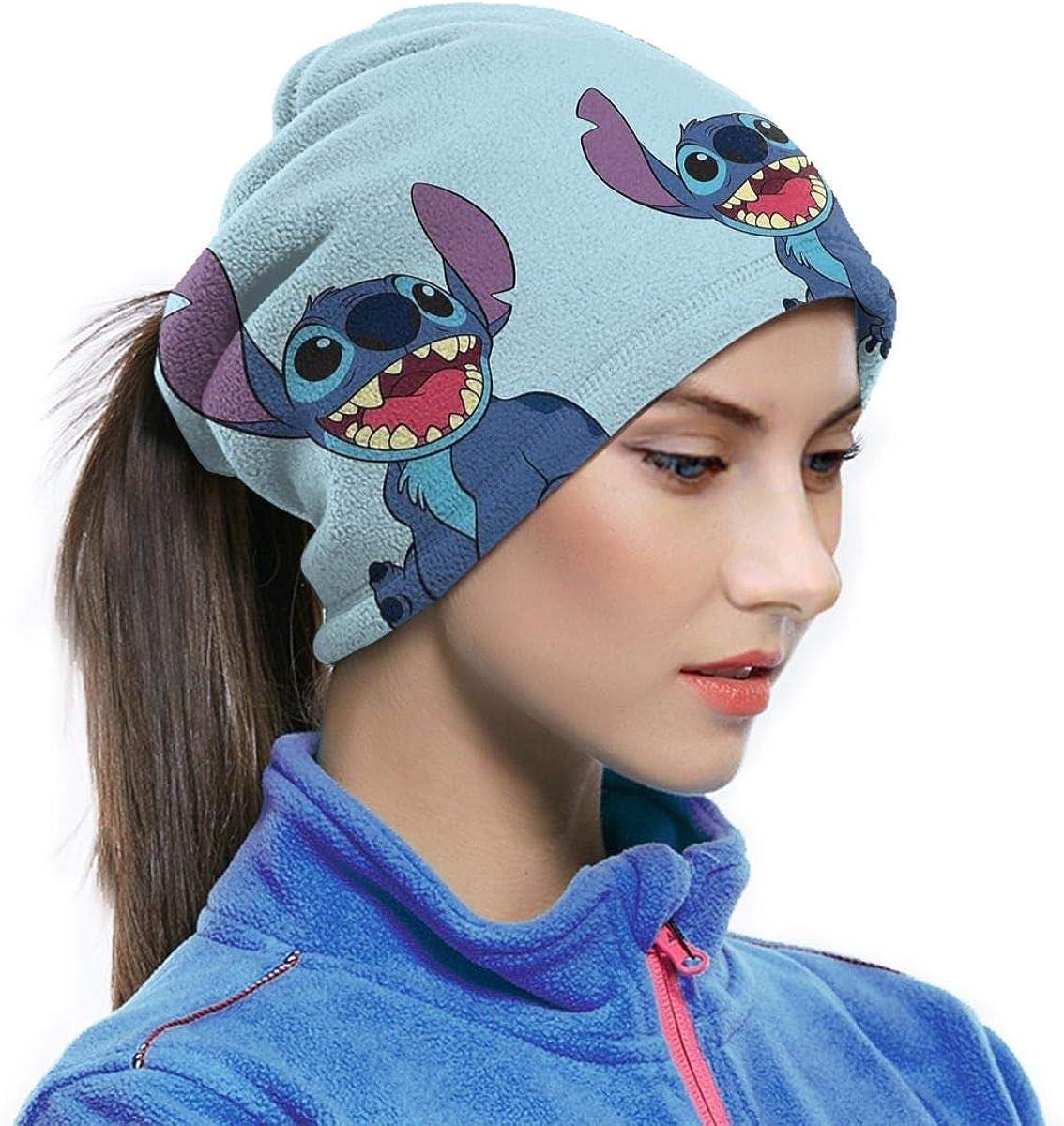 Lsjuee cuello polaina calentador a prueba de viento Stitch Love multifuncional cara Bandanas diadema diadema