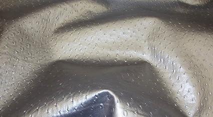 Amazon Com Vinyl Fake Leather 54 Wide Silver Metallic Ostrich