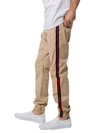 9be15df93 Brooklyn Cloth Side Taping Jogger Pants at Amazon Men's Clothing store:
