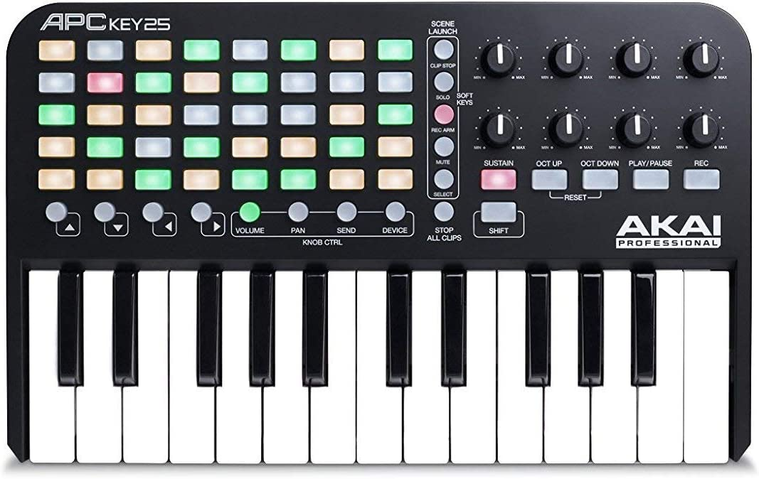 AKAI Professional APC KEY 25 - Teclado controlador MIDI USB para ...