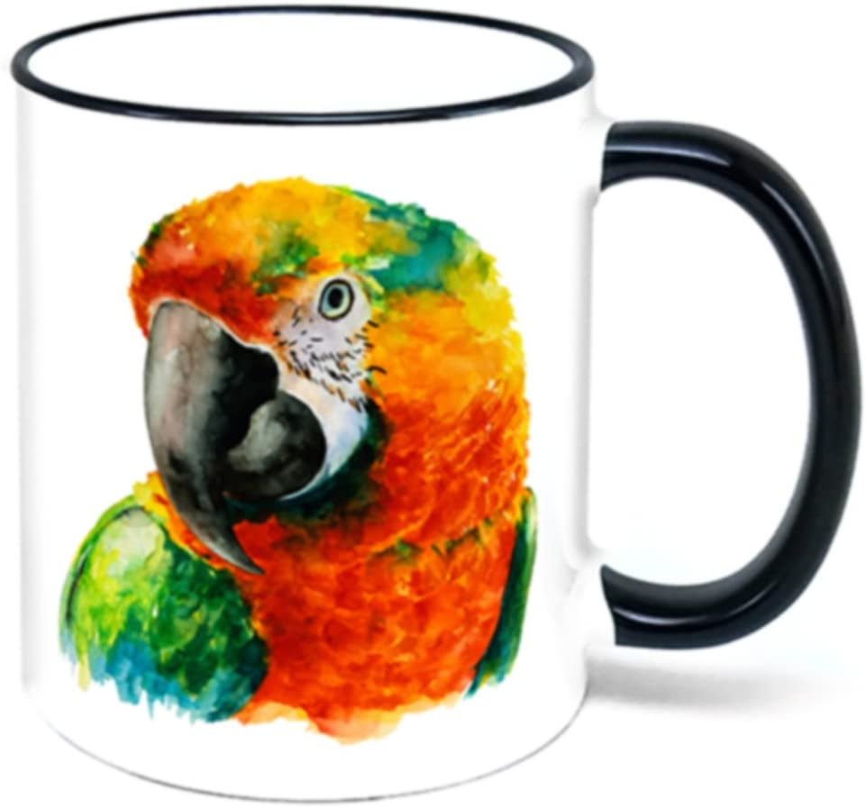 Amazon Com Colorful Parrot Coffee Mug Bird Coffee Cups Mugs