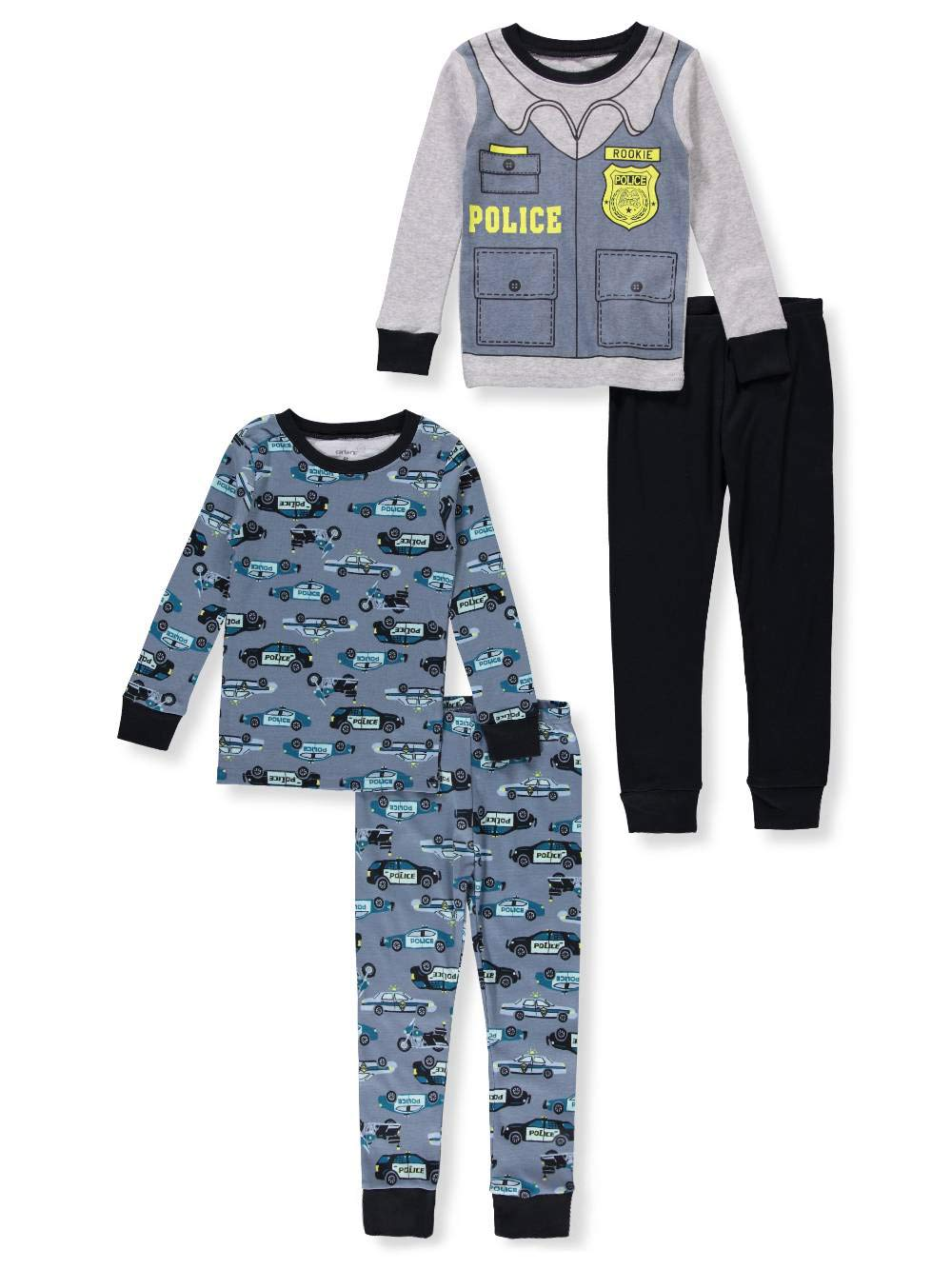 Carter's Toddler Boys 4 Pc Pajama PJs Sleep Play Sleep Snug fit Cotton Police Car (4T)