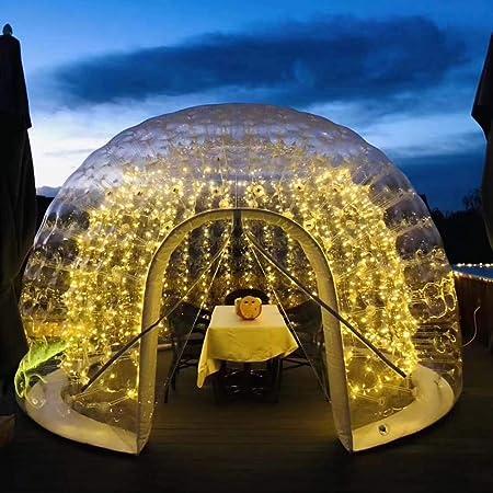 INFLATELINES Tienda de Burbujas Inflable Transparente de Espuma, Fabricante de iglú de jardín esférico de Doble Capa, Domo Semitransparente Aire Libre, jardín de Vacaciones, Camping al Aire Libre: Amazon.es: Deportes y aire