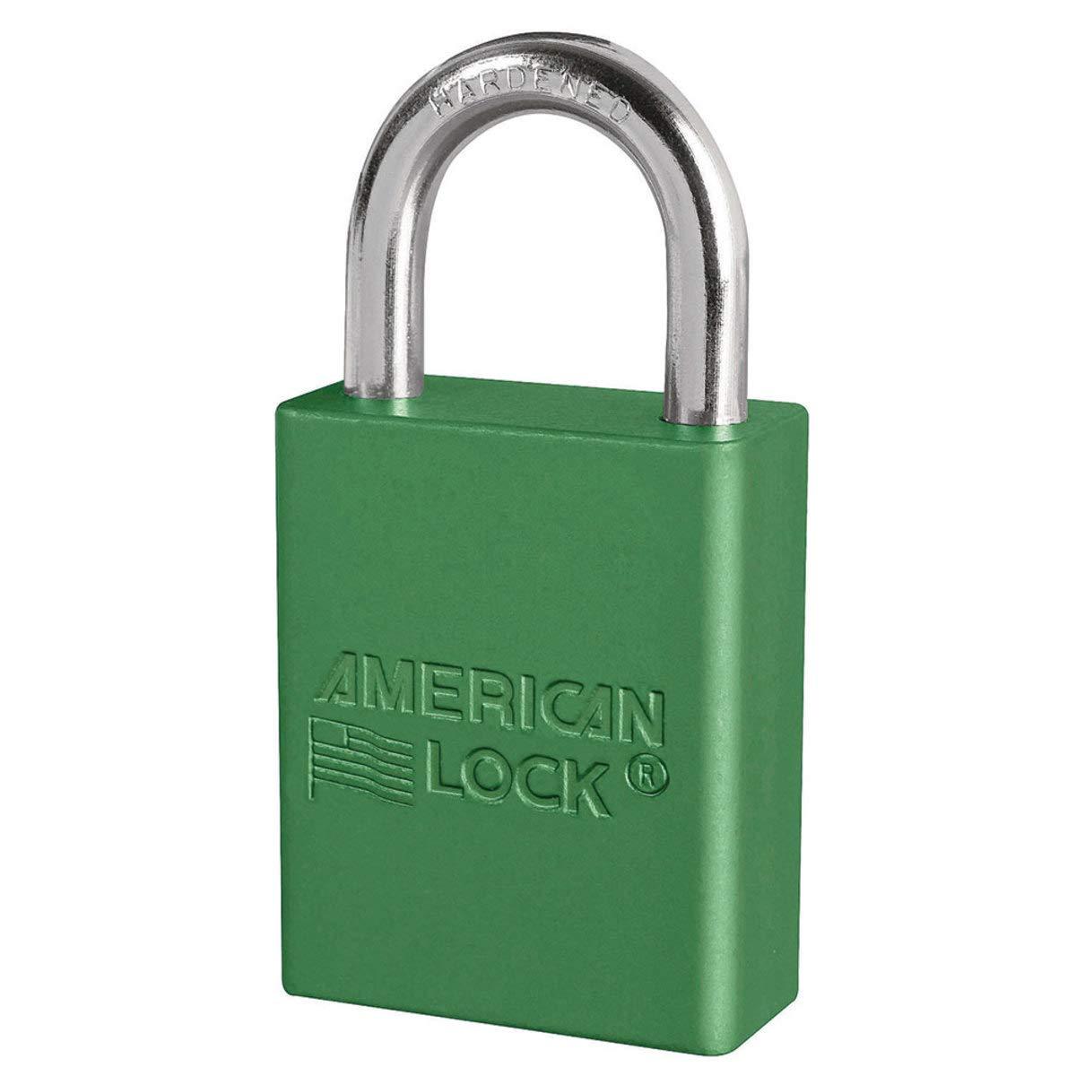 American Lock Green Anodized Aluminum Lifeguard 6 Pin Tumbler Padlock Boron Alloy Shackle - 1 Each
