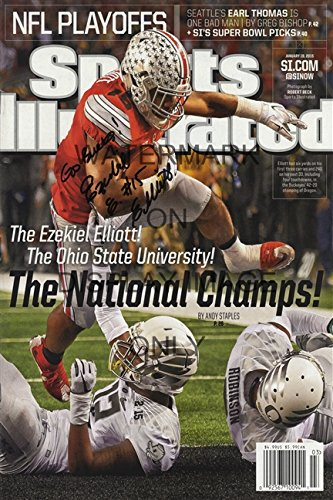 Ezekiel Elliott Sports Illustrated Poster - Ohio State Buckeyes National Champs!