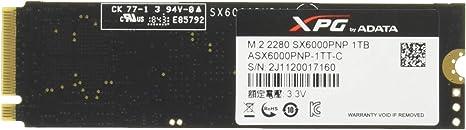 XPG SX6000 Pro Unidad de Estado sólido M.2 1000 GB PCI Express 3.0 ...