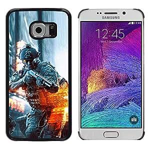 EJOY---Cubierta de la caja de protección la piel dura para el / Samsung Galaxy S6 EDGE / --BATTLEFILD SOLDADO