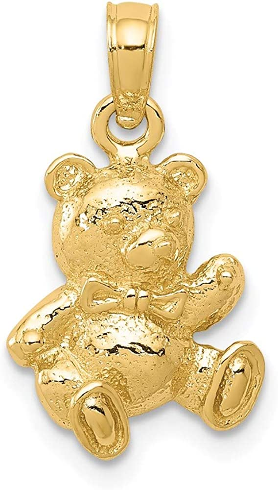 B00B5MHI20 14k Yellow Gold Teddy Bear Pendant Charm Necklace Baby Fine Jewelry For Women Gifts For Her 61KNYVh2zqL.UL1000_