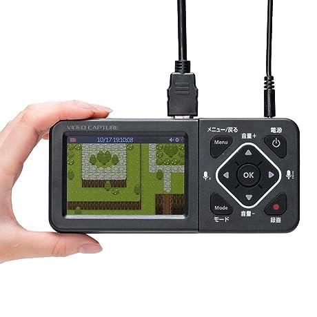 サンワダイレクト ビデオキャプチャー デジタル保存 PC不要 USB/SD/HDD 保存 HDMI入力対応 モニター付き 400-MEDI034
