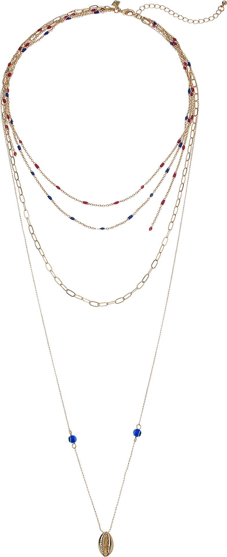 Rebecca Minkoff Women's Beachy Layered Chains Necklace Gold One Size