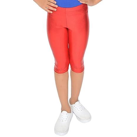 462187477da4c Amazon.com: Stretch is Comfort Girl's Metallic Mystique Capri Leggings:  Clothing