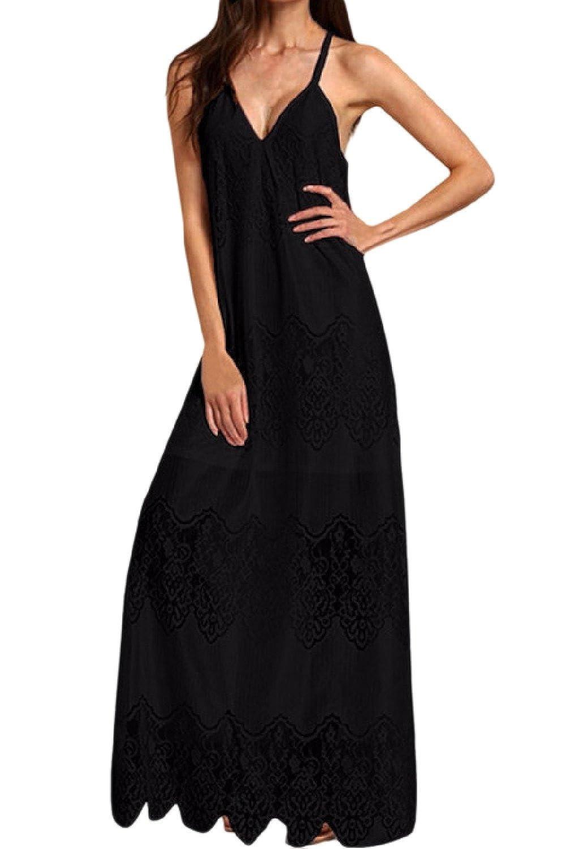 6d4b1324d0b5 Vepodrau Women Maxi Dresses Summer Sleeveless Lace.