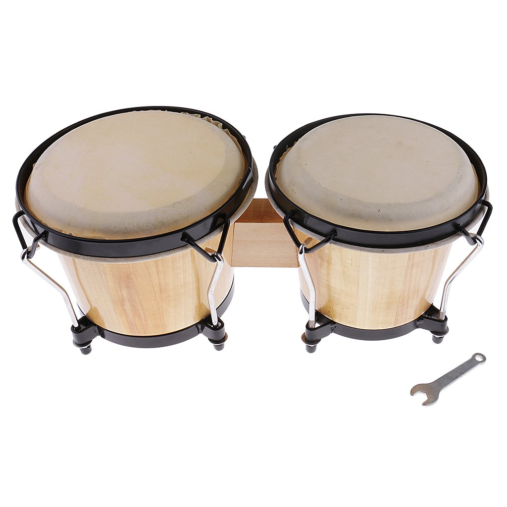 Flameer Bongo Drum Hand Percussion Instrument Set for Band Performances Stage