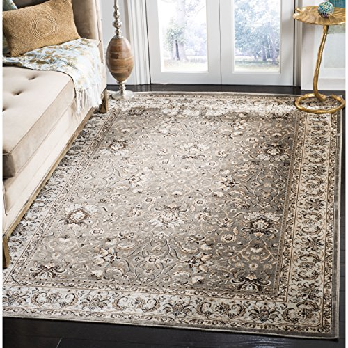 Safavieh Persian Garden Collection PEG607G Traditional Grey and Ivory Viscose Area Rug (4' x 5'7