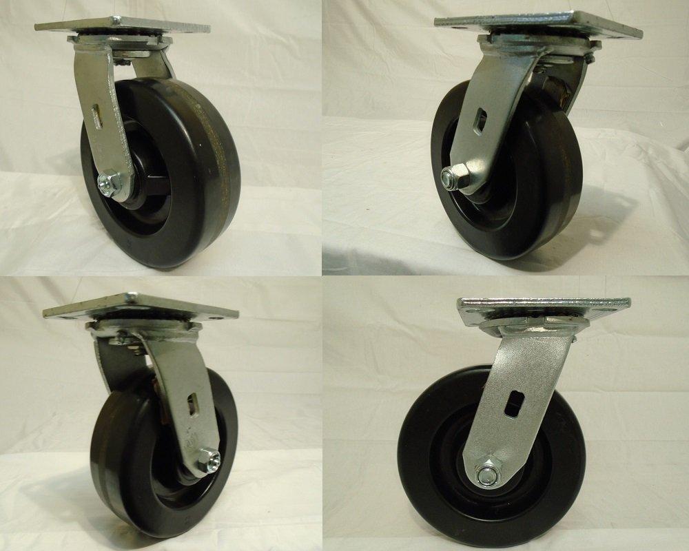 6'' X 2'' Swivel Casters with Phenolic Wheel (4) 1200lb Each Tool Box