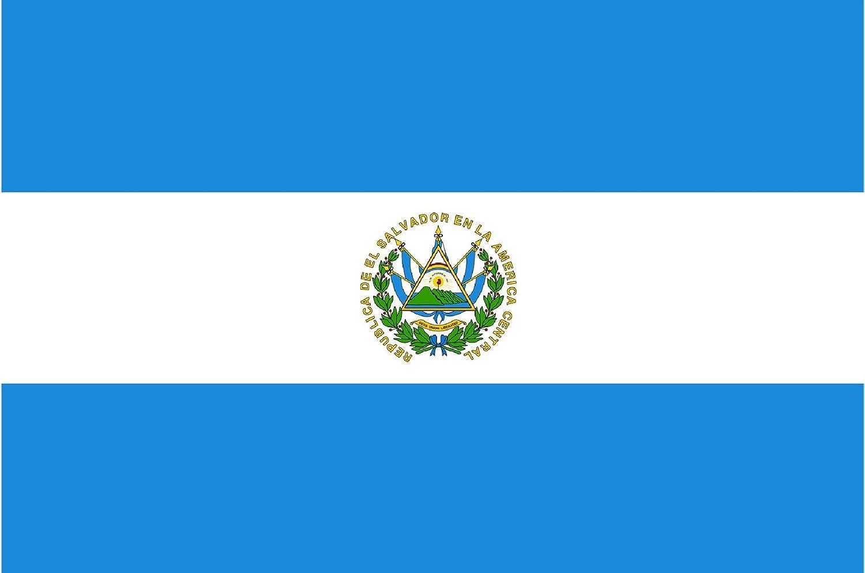 Gran Bandera de Salvador 150 x 90 cm Satén Durobol Flag: Amazon.es: Deportes y aire libre