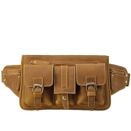46ef669ba856 Amazon.com: Carriemeow Waist Bag West Pouch Pocket Many Men's ...