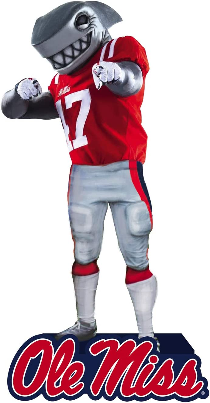 Team Sports America NCAA University of Mississippi Fun Colorful Mascot Statue 12 Inches Tall