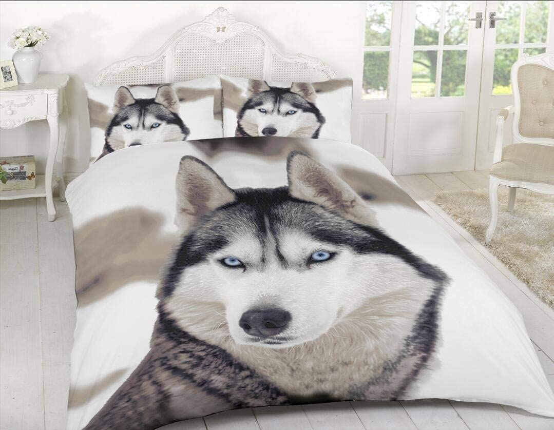 Sleep Down Parure de lit Simple en Coton Panneau Loup