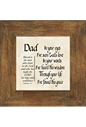 Dad Scripture Jeremiah 17:7 Words of Encouragement and Appreciation Framed Gift with Built in Easel for Fathers Day or Birthday