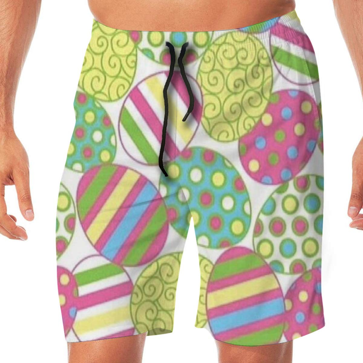 Woxianghe Mens Active Athletic Performance Shorts with Pockets Easter Egg