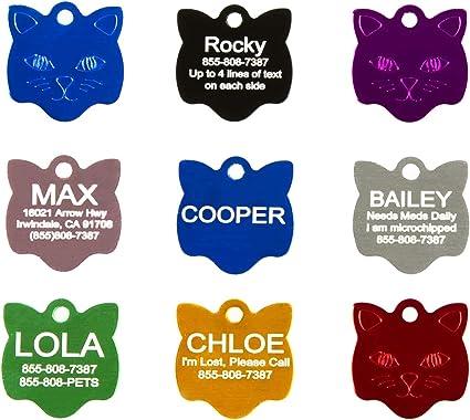 Pet Dog Aluminium Bone tags for Pets Tag! Cat /& Personalised Engraving