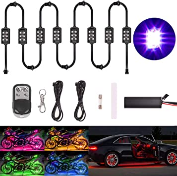 RGB-LED-Streifen unter der Fahrzeugr/öhre Unterbodenbeleuchtung Neonlicht-Fernbedienung