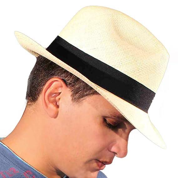 Gamboa - Cappello Panama Marrone Chiaro Autentico Unisex Capello di Paglia   Amazon.it  Abbigliamento f3b28647936a