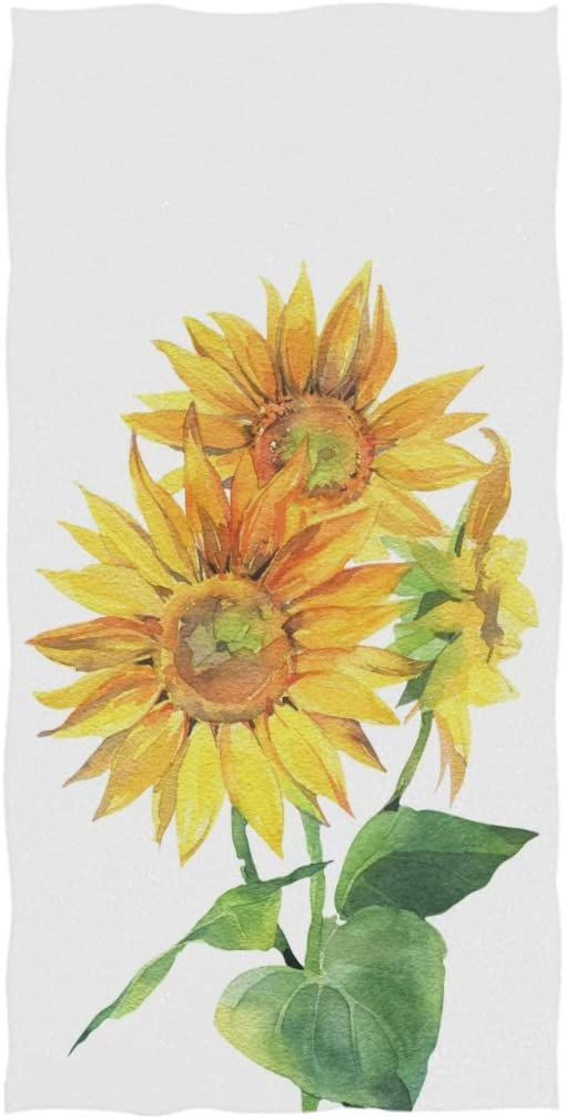 Amazon Com Yellow Sunflower Hand Towels 30 X 15 Inch Autumn Sunflower Daisy Bath Bathroom Shower Towels Multipurpose Towels Highly Absorbent For Bath Hand Face Gym Spa Kitchen Dining