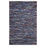 Cheap Safavieh Rag Rug Collection RAR128B Hand Woven Blue and Multi Cotton Area Rug (2'6 x 4′)