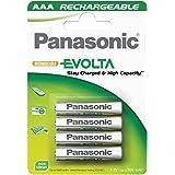 1x4 Panasonic Akku NiMH Micro AAA 750 mAh Rechargeable Evolta