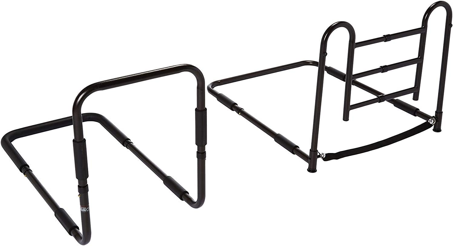Carex Health Brands Easy-Up Bed Rails for Elderly - Adult Bed Hand Rails - Bed Safety Rails for Seniors, Black (FGP56900): Health & Personal Care